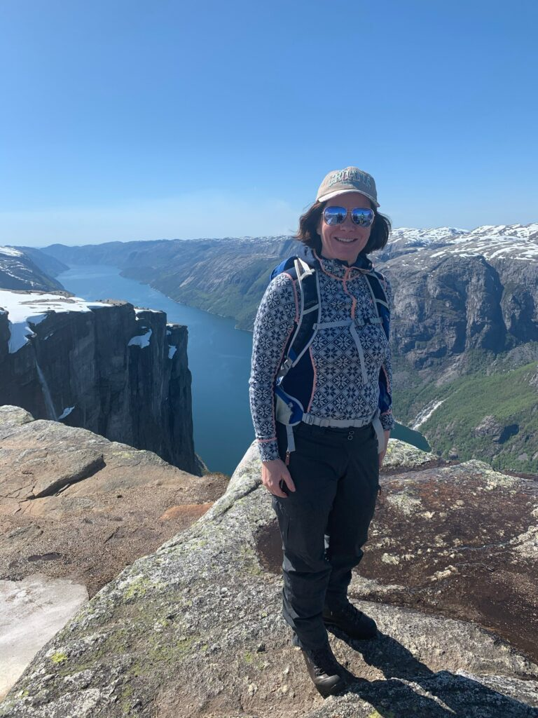 Photography of Anne Cecilie Rueness on a hiking trip